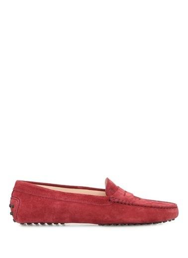 Tod's %100 Deri Loafer Ayakkabı Bordo